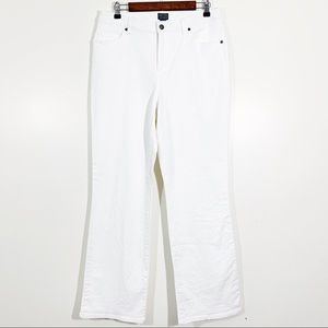 Chico's Additions Size 12 White Boot Cut Jeans
